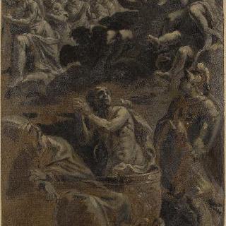 성 볼프강과 성 게오르기우스 사이에서 박해당하는 성 귀