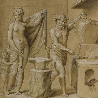 불카누스의 대장간의 비너스와 에로스