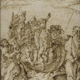 호메로스의 연설에 매혹된 망트, 군함의 함장