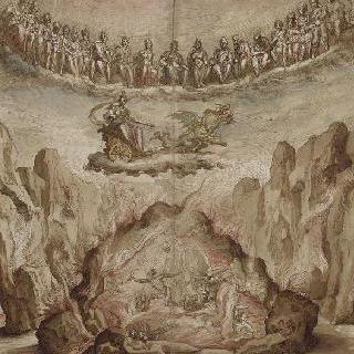 키르케의 승리의 막간극의 장식과 무대 장치 계획안
