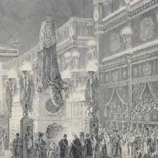 1820년 3월 14일, 생 드니 황실 교회에서 거행된 베리 공작의 장례식