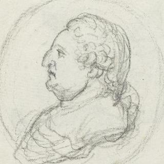 1791년의 프랑스와 나바르 왕 루이 16세 (1754-1793)의 프로필