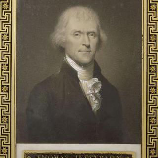 토마스 제페슨의 초상 (1743-1826), 1801년 미합중국의 대통령