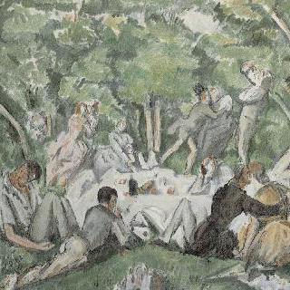 풀밭에서의 점심 식사, 세잔풍