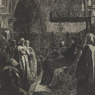 종교재판 앞의 이단자