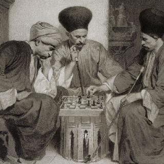 체스를 두는 세 명의 터키인