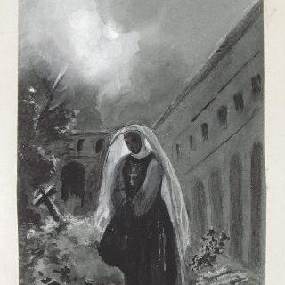 수도원 내의 수녀