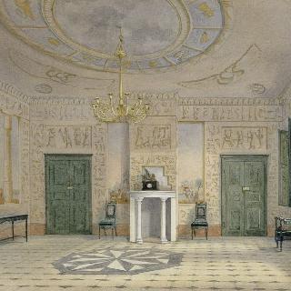 산 마리노 빌라의 이집트식 객실. 엘바섬의 나폴레옹 거처.