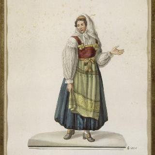 전통 의상을 입은 이탈리아 여인
