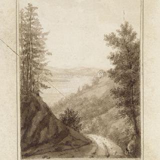 아르넨베르그의 성과 콘스탄스 호수의 전경