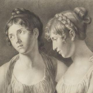 에글레 오귀에의 초상 (훗날 네이 사령관)과 도르탕스 드 보하르네의 초상