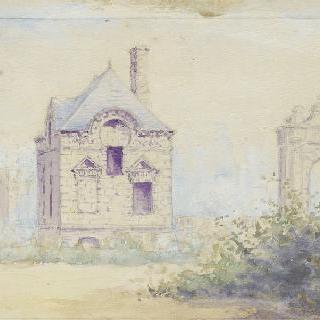 블레랑쿠르 성의 별관들 남쪽 정경