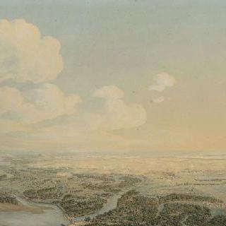 1809년 7월 5일 와그람 전투의 전경