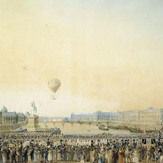 1814년 5월 3일 루이 18세의 파리 입성, 퐁네프 다리를 건너는 순간