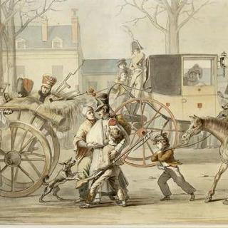 몽미라이유 전투 후에 파리로 들어오는 프랑스부상병들, 1814년 2월 17일