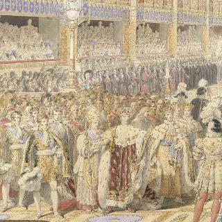 1825년 5월 29일, 랭스 대주교 교회에서 거행되는 샤를르 10세 대관식