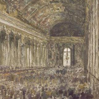 1919년 6월 28일 베르사유 거울의 방에서의 평화 조약의 체결