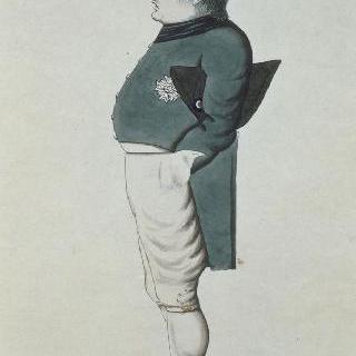 세인트 헬레나의 죄수 나폴레옹 1세, 옆 얼굴 초상