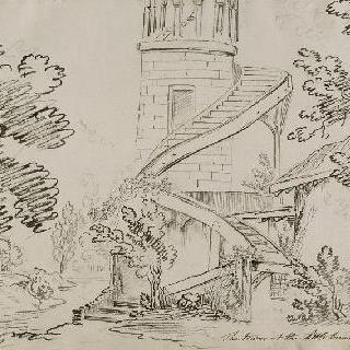 프티 트리아농의 작은 마을의 말보로프 탑