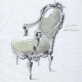 루브시엔의 바리 부인의 가구인 안락의자 초안