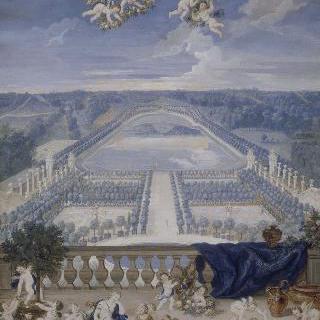 베르사유궁 스위스 정원못과 오랑주리 회화관 정경