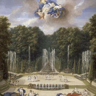 베르사유궁 정원의 수극장 숲의 윗 부분 정경