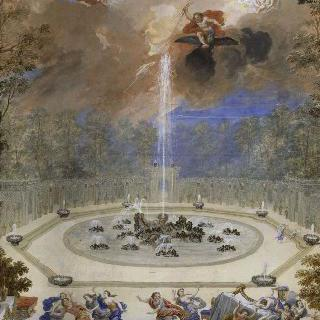 베르사유궁 정원의 앙슬라드 숲 정경