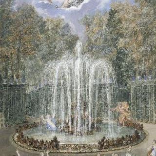 베르사유궁 정원의 별 숲 또는 산 숲 정경