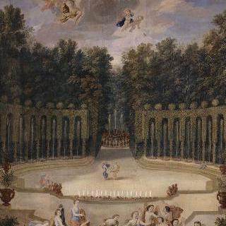 베르사유궁 정원의 수극장 숲의 입구 정경