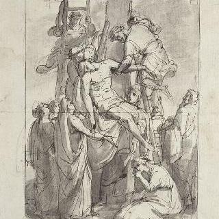 십자가에서 내려지는 그리스도 (앞면), 제우스가 보낸 헤르메스 (뒷면)