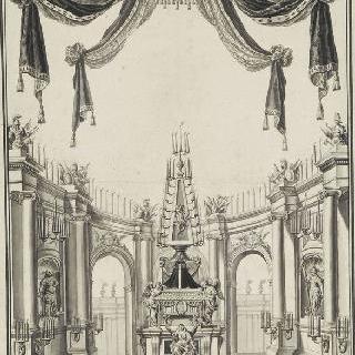1774년 루이 15세의 장레 의식 계획안 (브뤼셀)