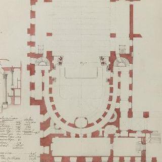 베르사유궁의 오페라 루아얄 약도 - 1770