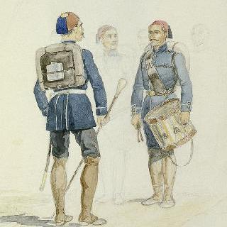 1855년 크림, 오메르 파샤 군대의 터키인 보병대