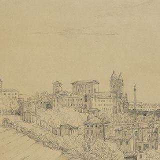 핀치오에서 바라본 로마의 전경
