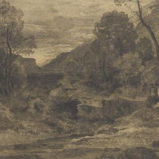 풍경 : 안개가 잠시 걷힌 골짜기 깊은 곳
