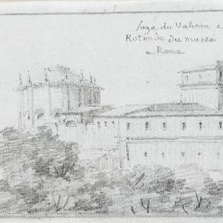 바티칸의 회랑과 로마 박물관 원형 건물의 전경