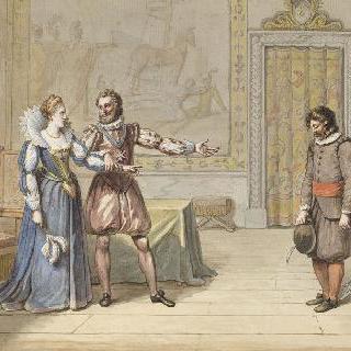 앙리 4세와 뱃사공 : 앙리 4세는 뱃사공에게 명을 하고 있다