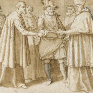 포기각서 비준에 서명하는 앙리 4세 (1596년 9월 19일)
