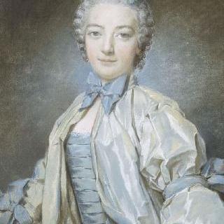 파란 색 옷을 입은 여인의 초상