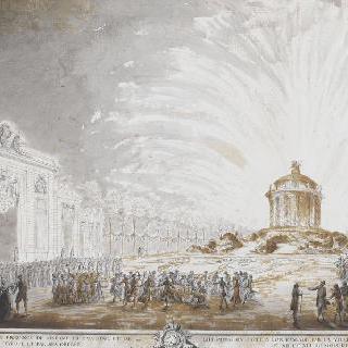 1770년경의 수아송의 불꽃놀이