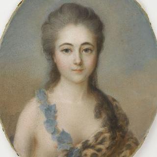 바쿠스신의 무녀 복장의 젊은 어머니의 초상