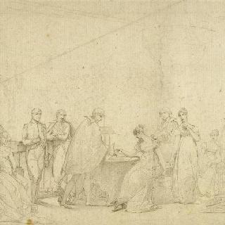 조제핀 황후의 이혼 계약 서명