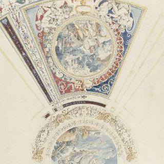 카프라롤라의 파르네세 궁전 : 예배당 궁륭의 세부 묘사