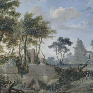선한 사마리아인이 있는 풍경