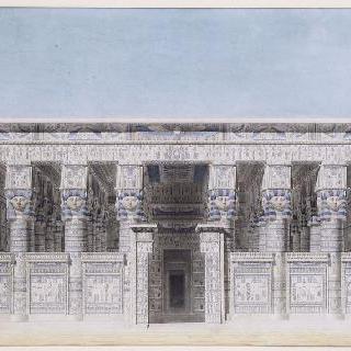 덴데라 신전 (이집트) : 입면도 : 중앙 정면의 복원