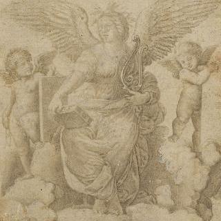 시간에 둘러싸인 전차 위의 태양의 신 아폴론