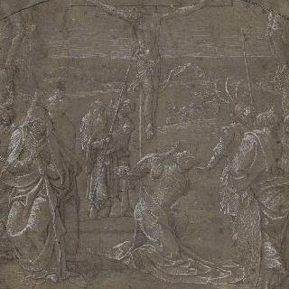 두 강도 사이 십자가에 매달린 그리스도