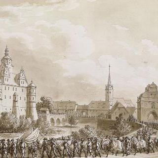 17세기 초의 루트첸에서의 군대 장례식