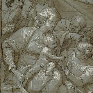 아기 예수를 안고 있는 성모, 성 제롬, 성 요셉과 성녀 카트리나