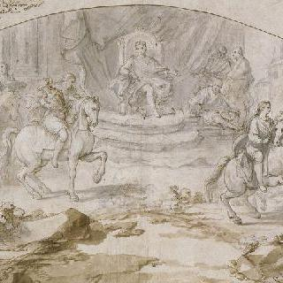 1732년 6월 24일 피렌체 도시의 선물을 받는 돈 카를로스 왕자
